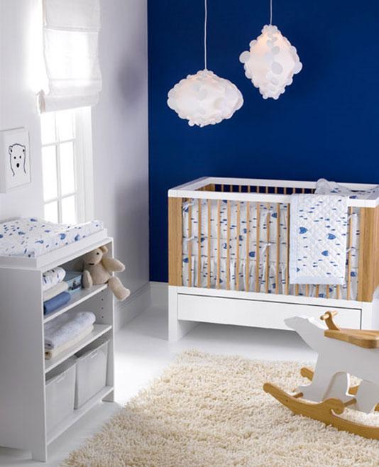 babykamer donkerblauw