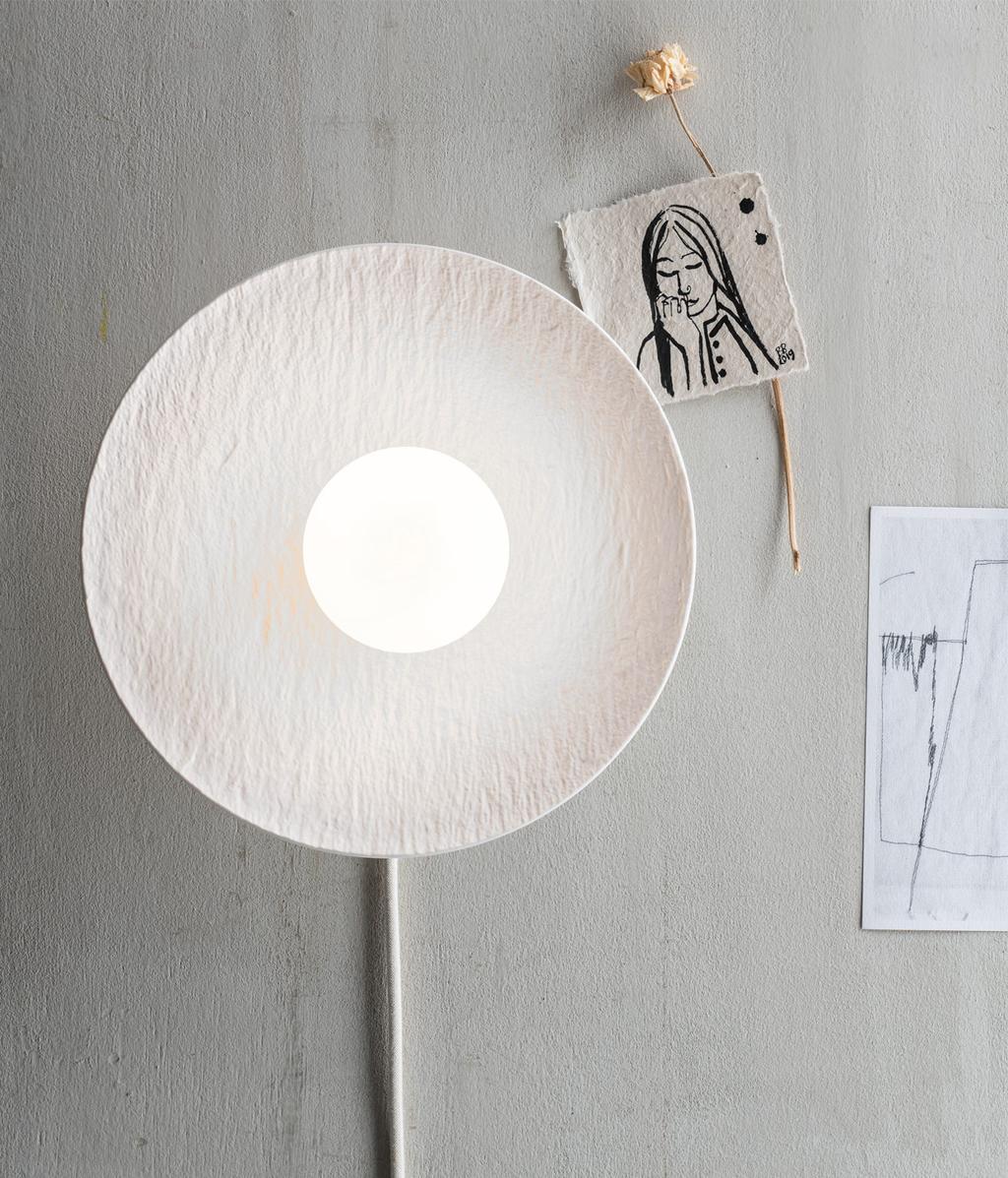 DIY wandlamp van een bord | vtwonen 10-2020