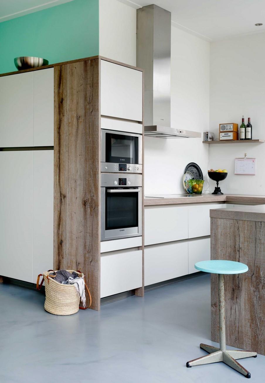 5 cuisine bois et blanc