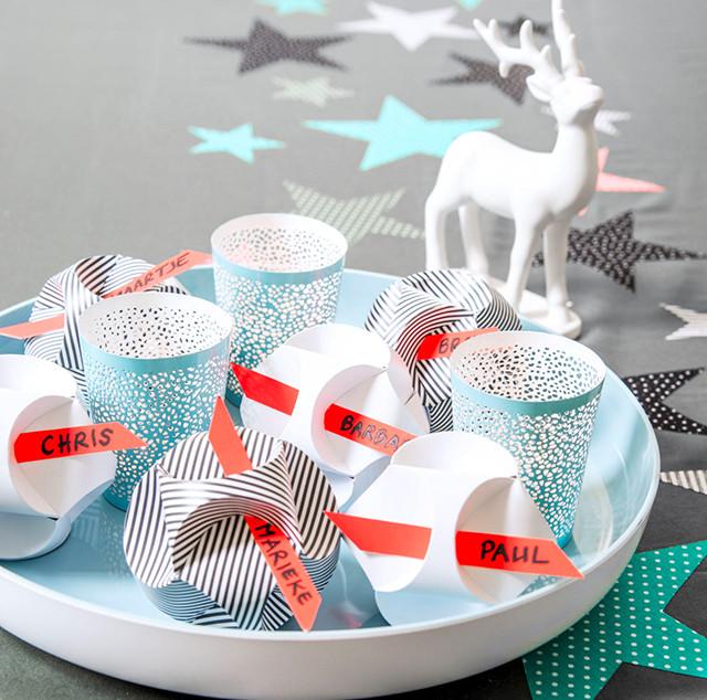 Kerstballen van papier