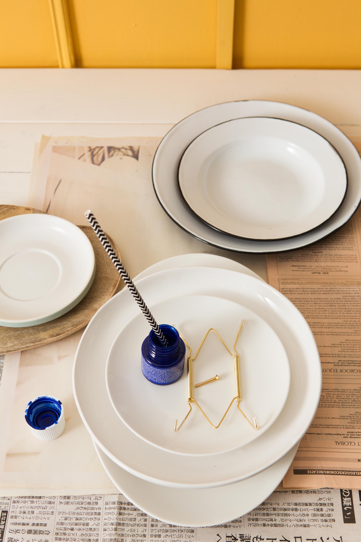 diy bespetterde borden benodigdheden