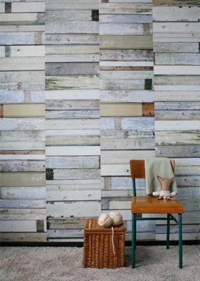 Behang Sloophout (wit) van Studio Ditte