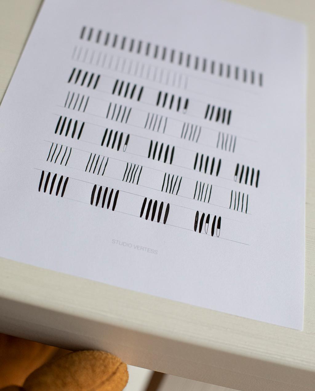vtwonen | Blog Studio Vertess Modern Kalligrafie streepjes