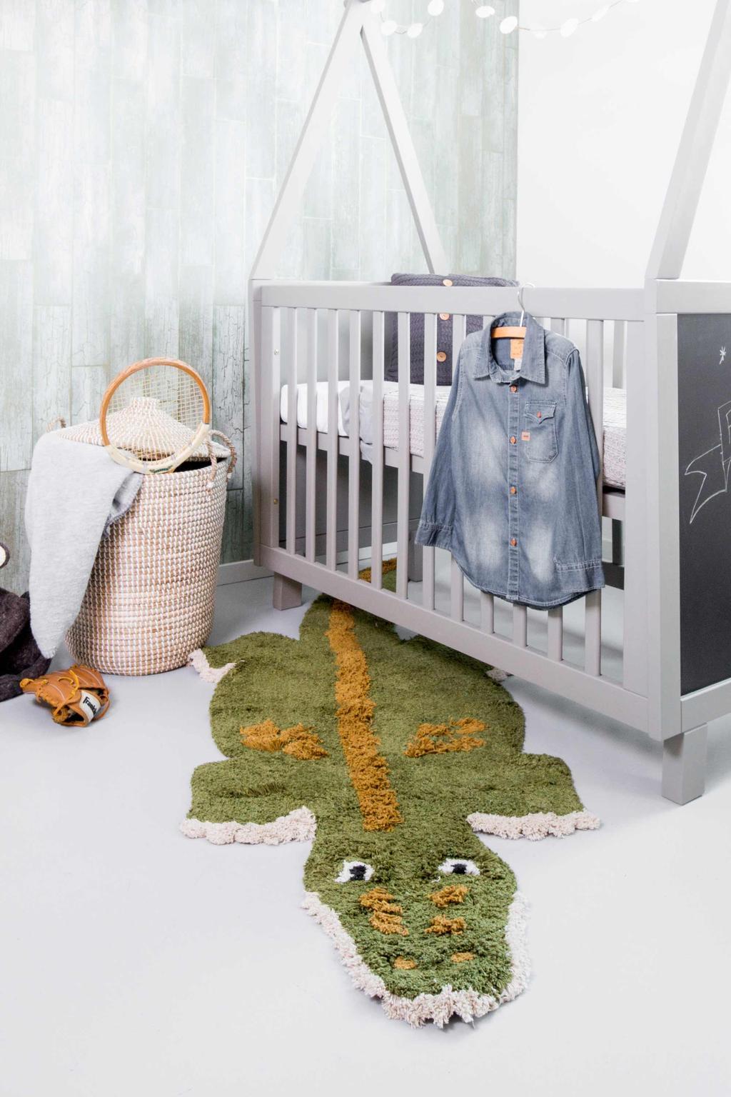 krokodillen vloerkleed chris croco van kidsdepot