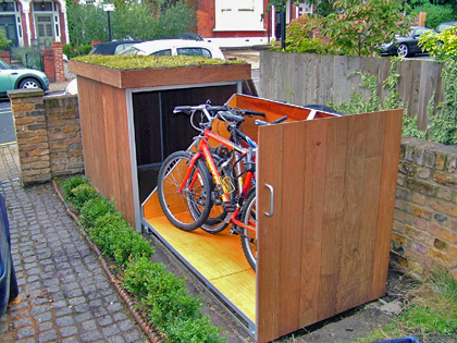 Uitschuifbaar fietsenrek