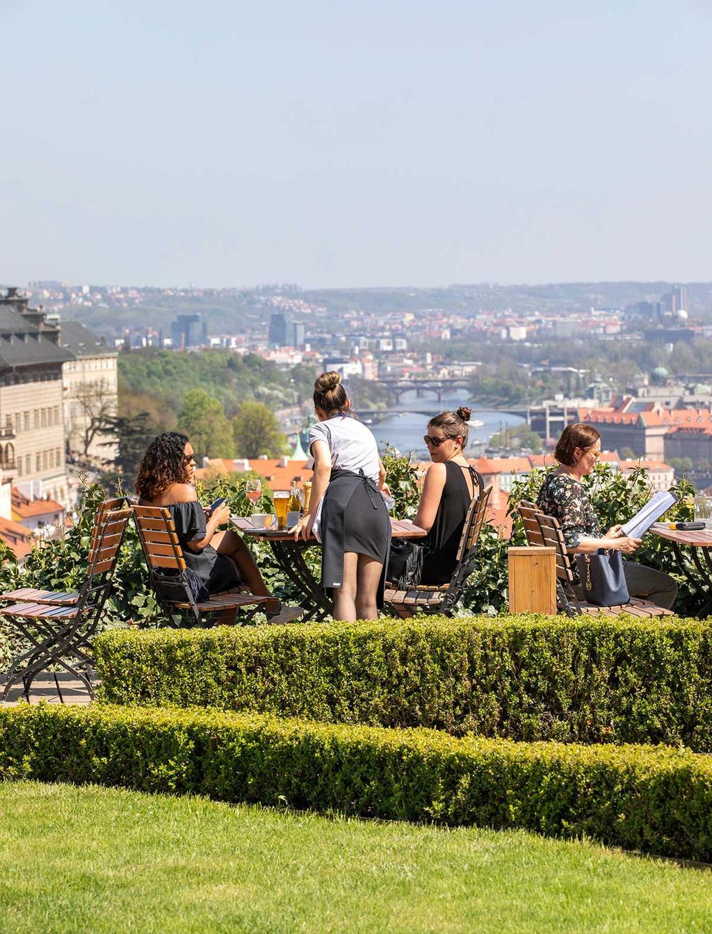 Uitzicht bij het Strahov Klooster in Praag