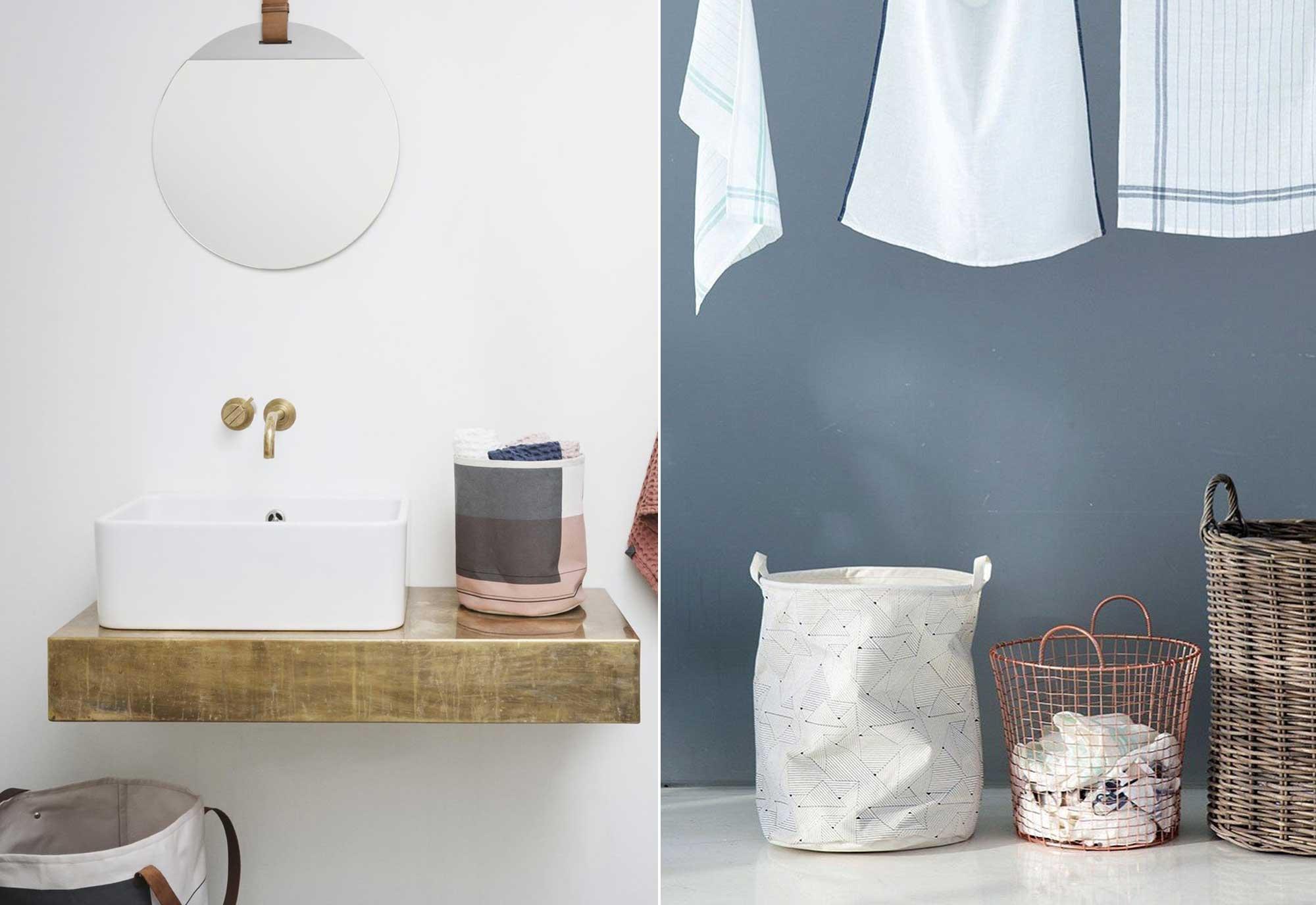 Wasmand - Wastafel - Handdoeken - Musthaves voor een mooie badkamer
