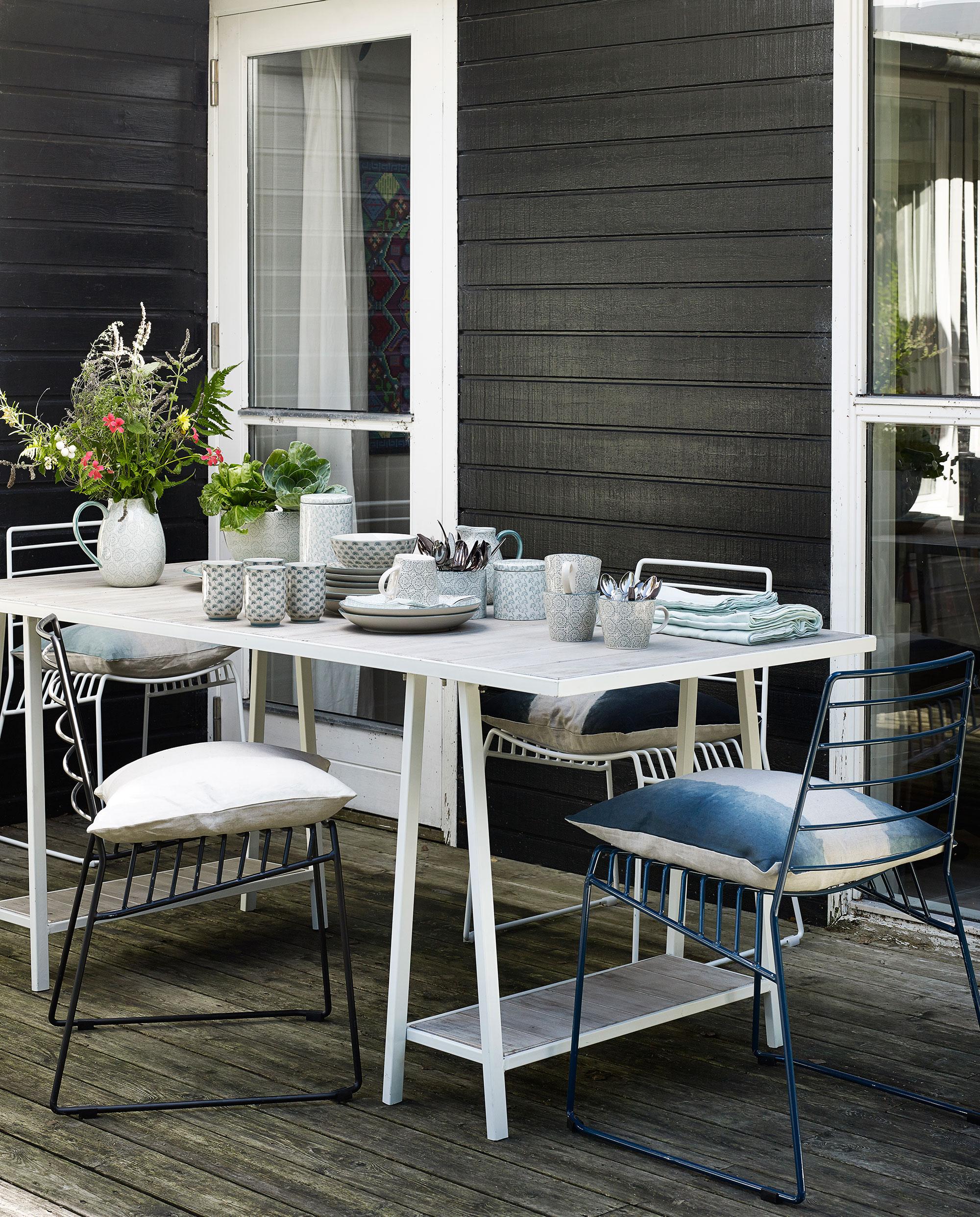 table jardin blanc