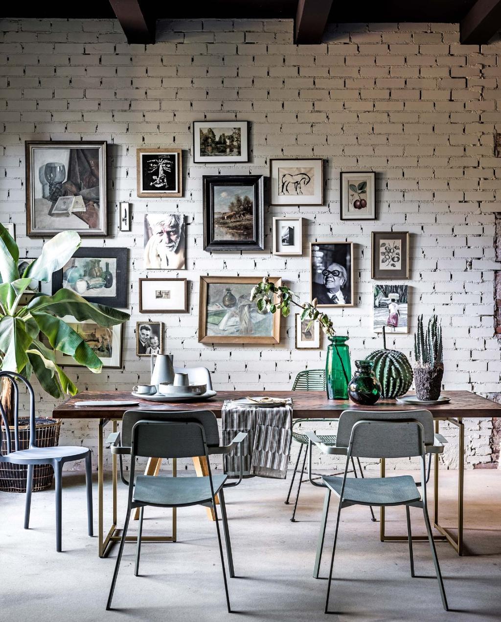 Gallery wall | lijsten op de muur | vintage