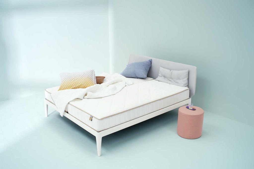 auping bed blauw fris slapen
