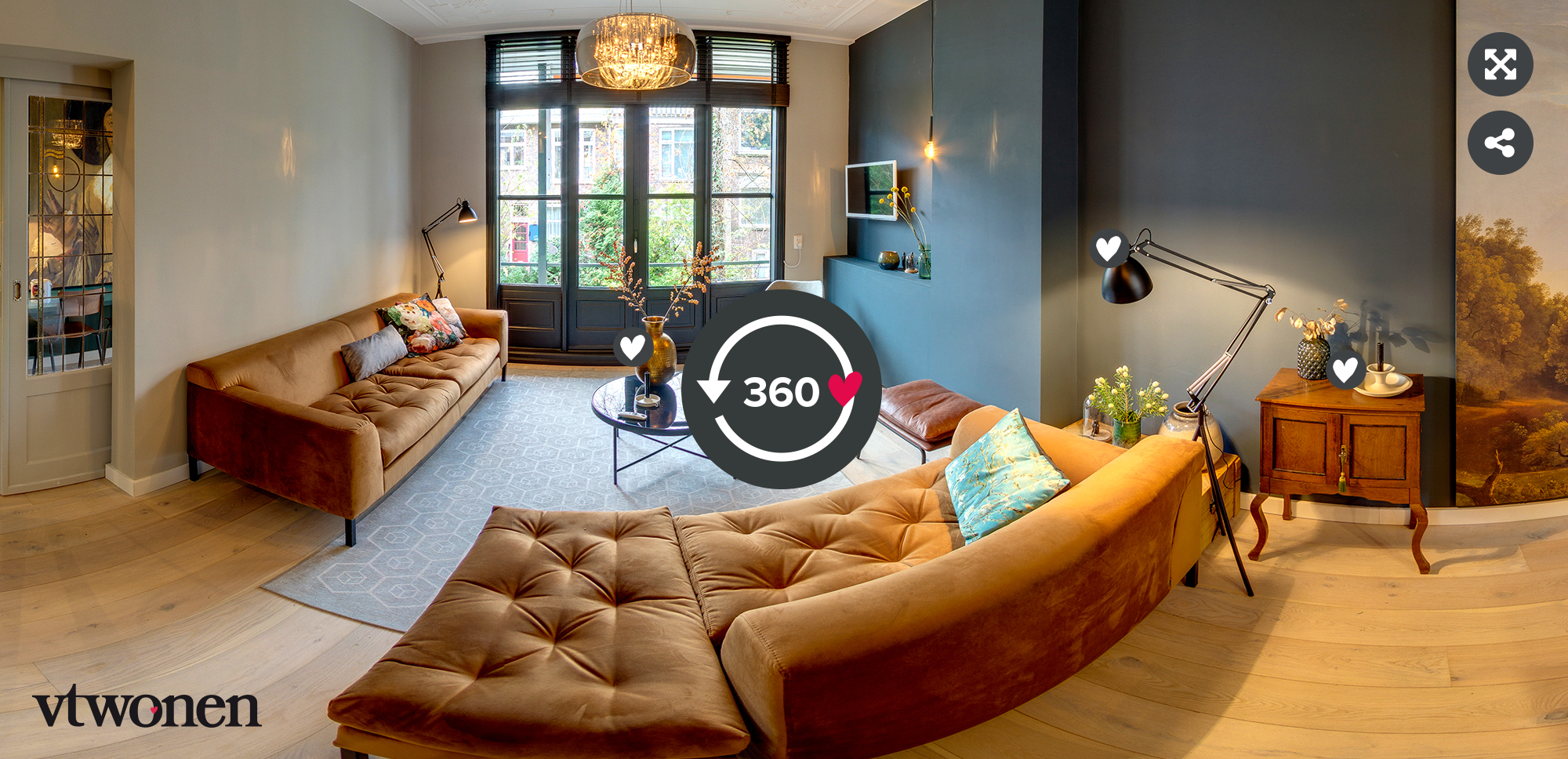 vtwonen verhuist seizoen 1 aflevering 4 - Stylist Frans Uyterlinde - 360 tour