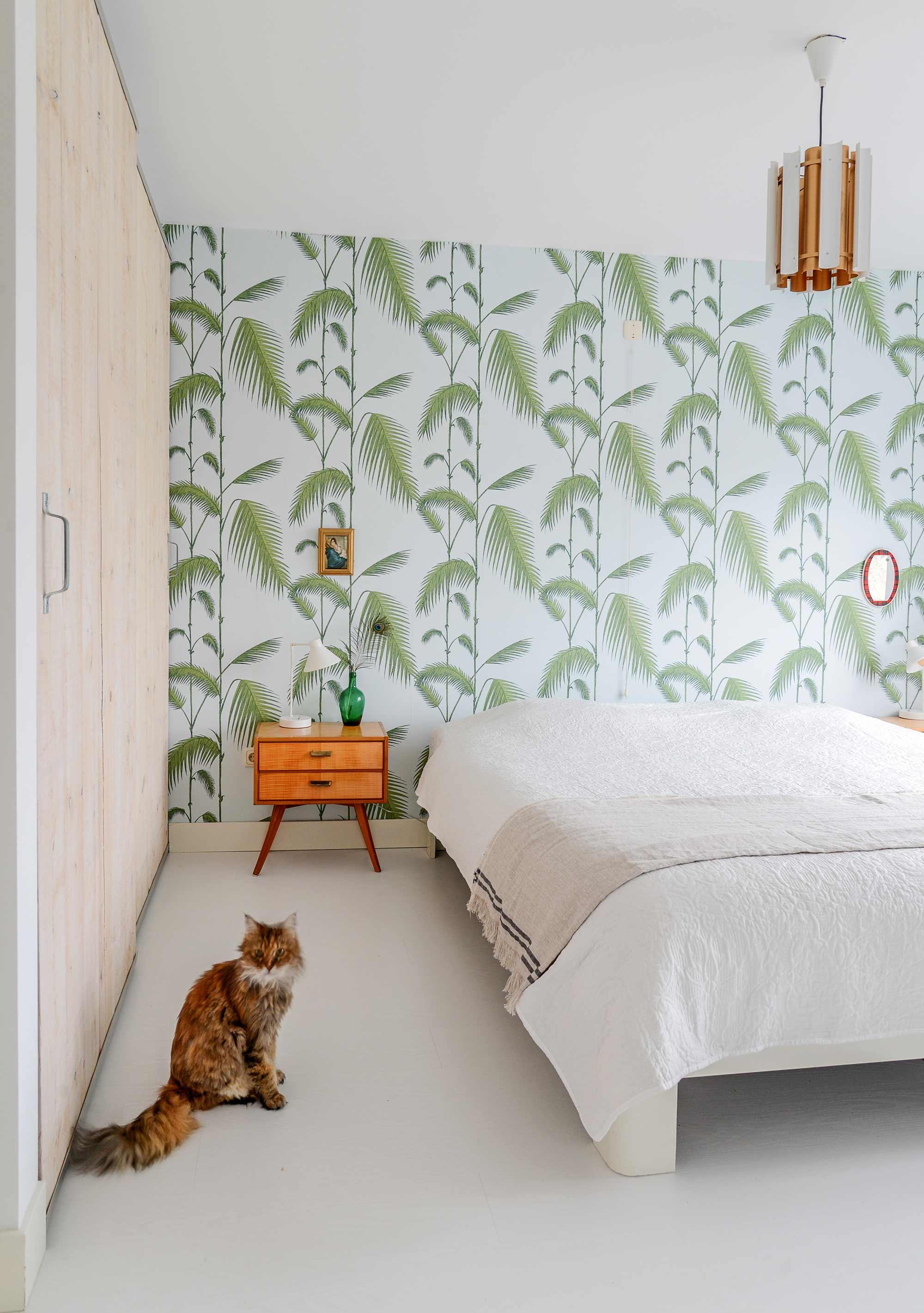 Groen behang slaapkamer