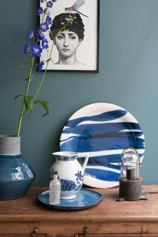dressoir styling blauw