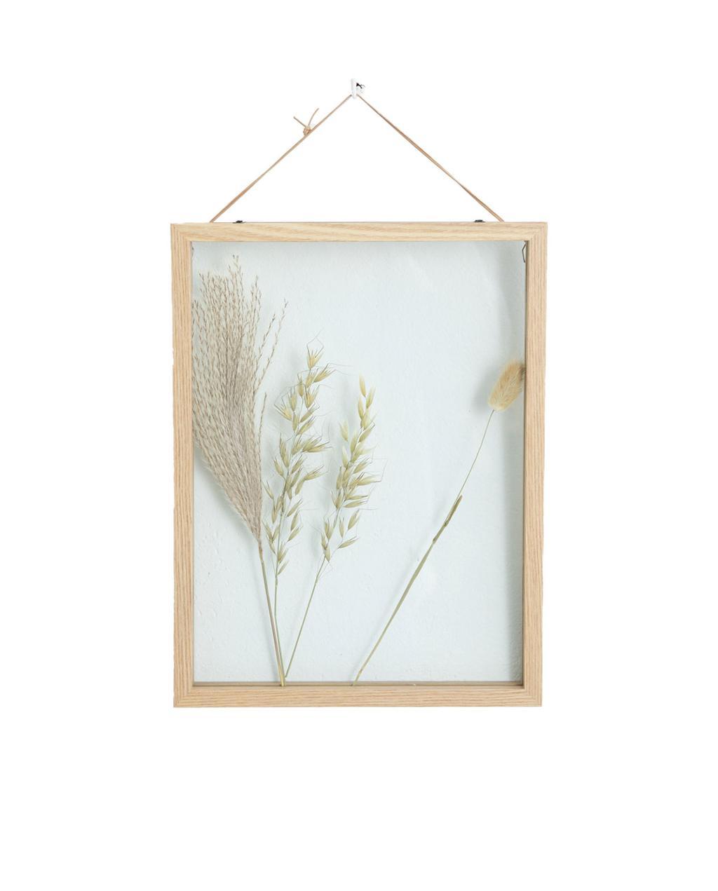 houten fotolijst met gedroogde bloemen