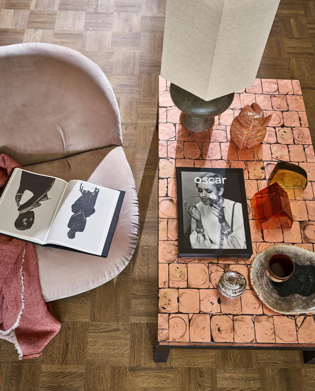 roze salontafel