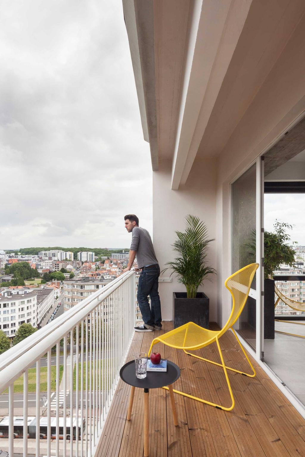 terrasse chaise jaune