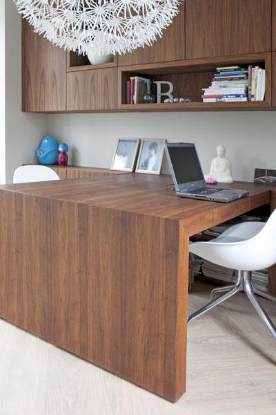 bureau notenhout
