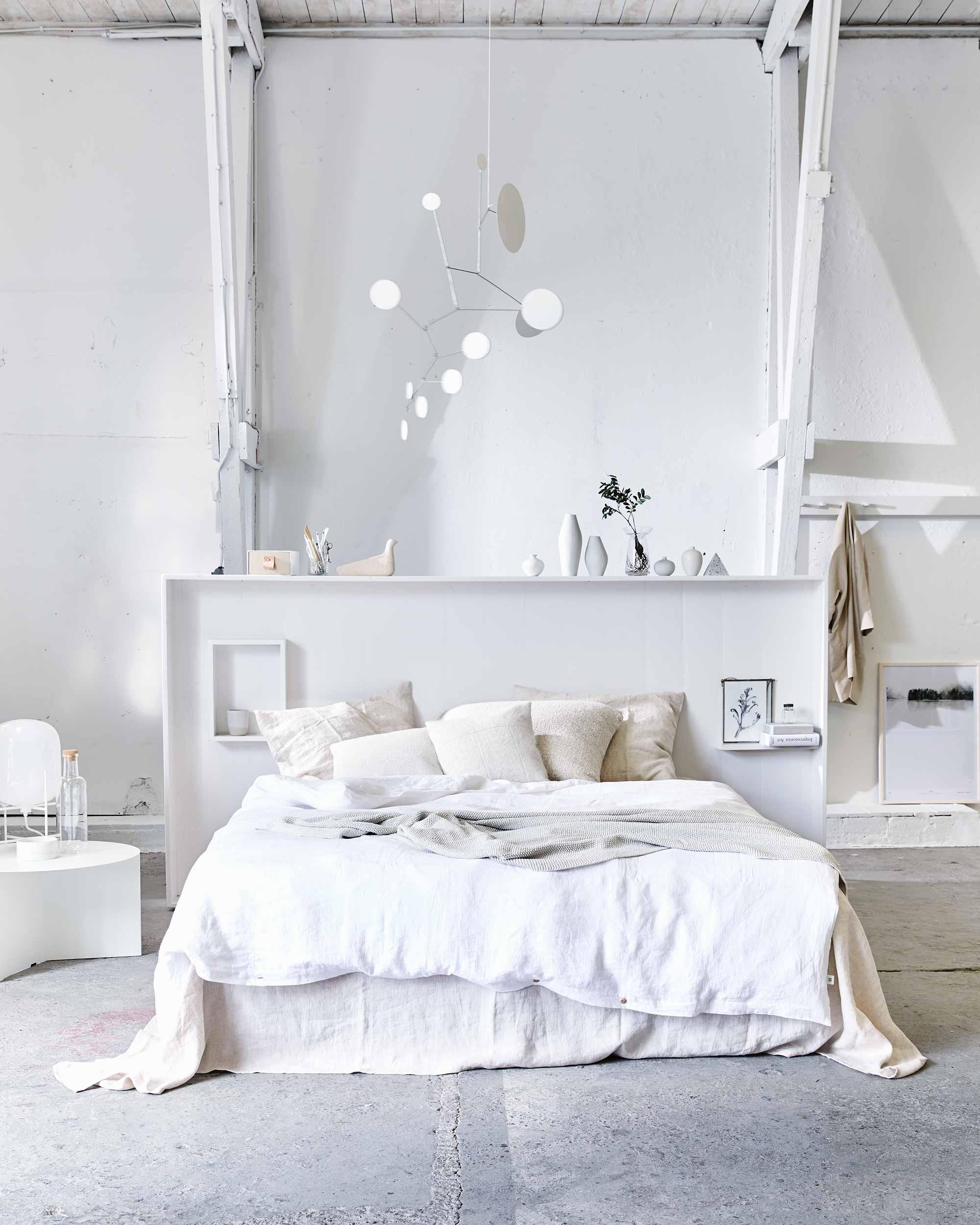 chambre blanc et naturel