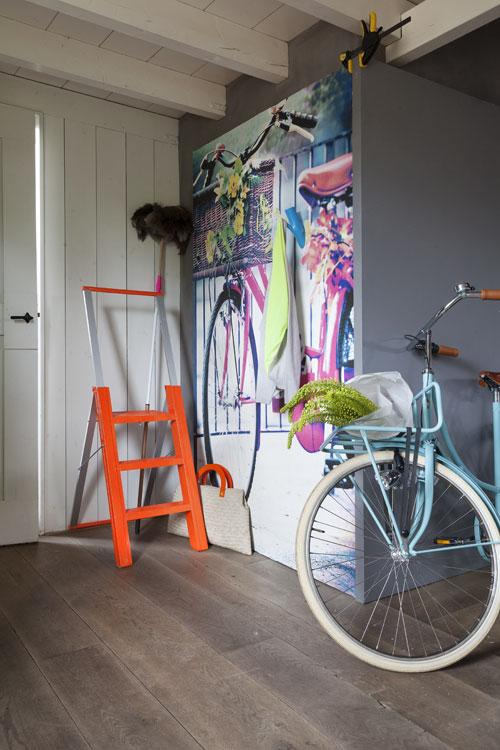 fluor fiets behang foto