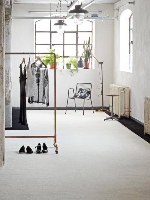 tapijt karpet zwart wit