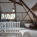 slaapkamer hout wit