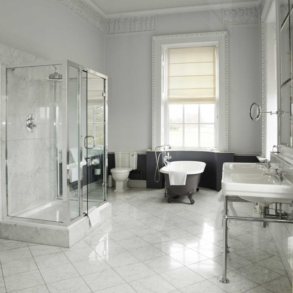 logeren buxted park hotel badkamer