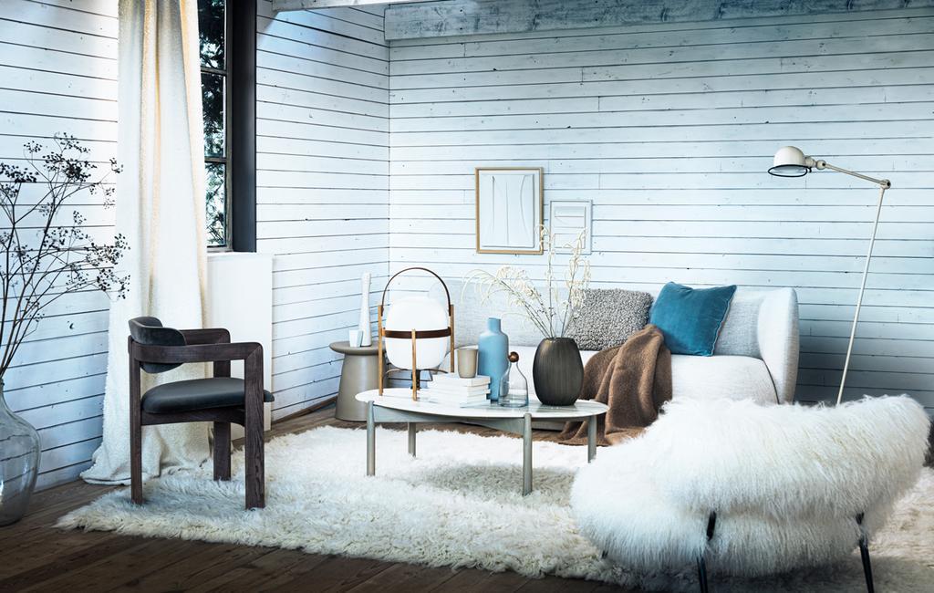 vtwonen 2-2020 | styling warm winter wit woonkamer ijstinten