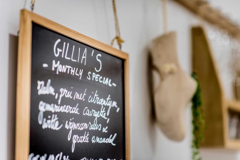 menu krijtbord bij gillia