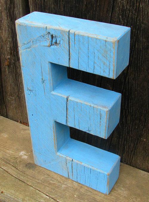 blauwe letter