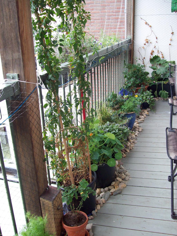 groen op het balkon