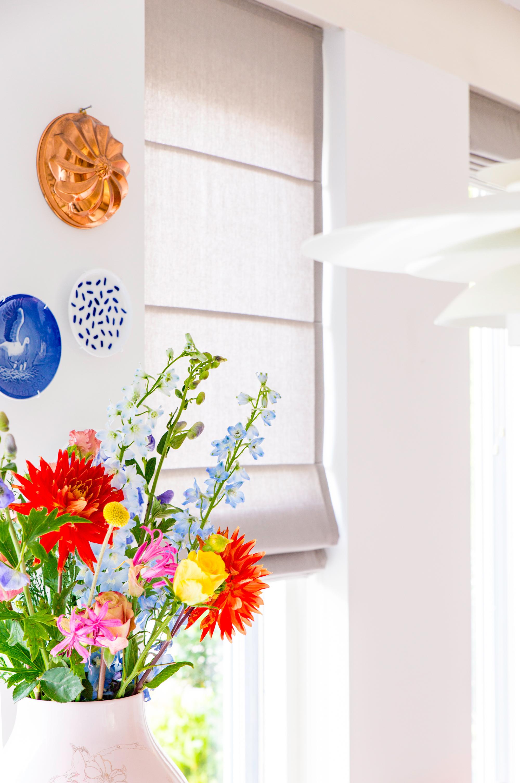 Knip en klaar vouwgordijnen woonkamer