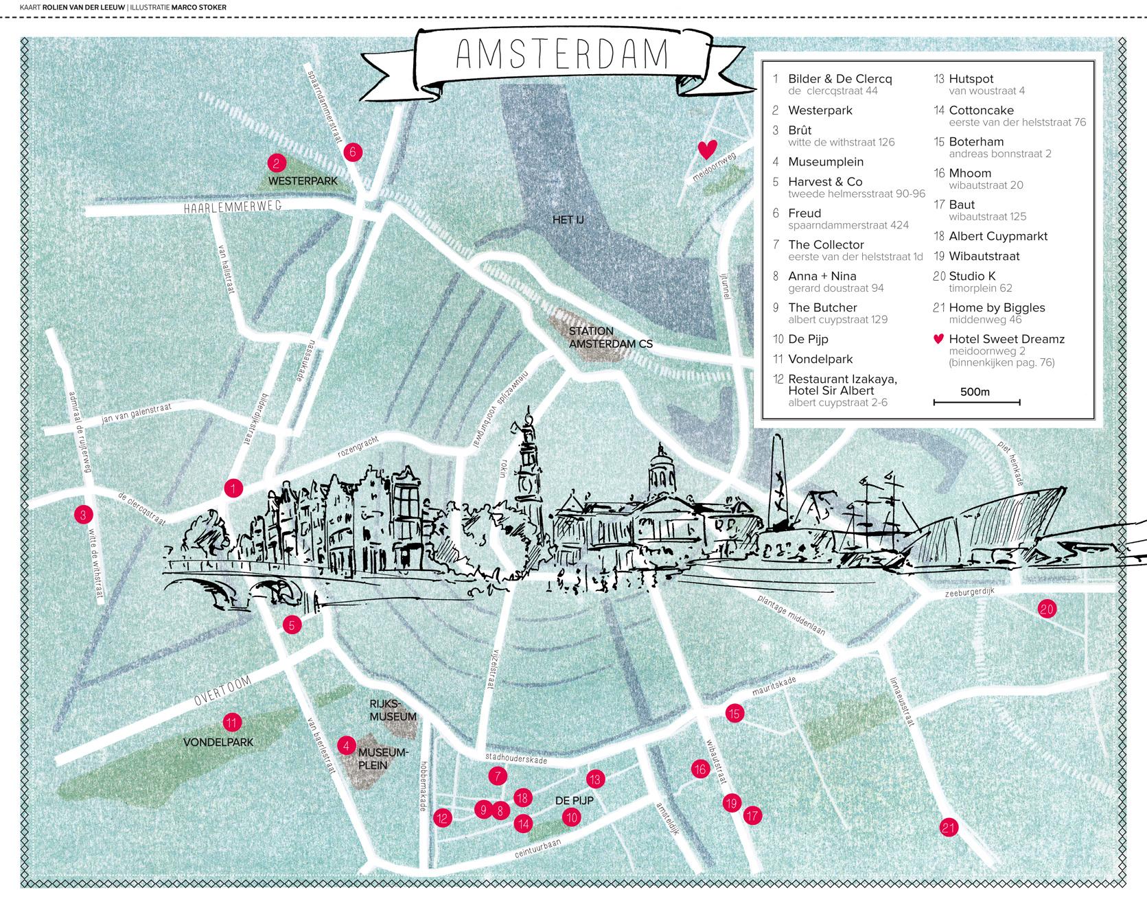 hotspots Amsterdam plattegrond