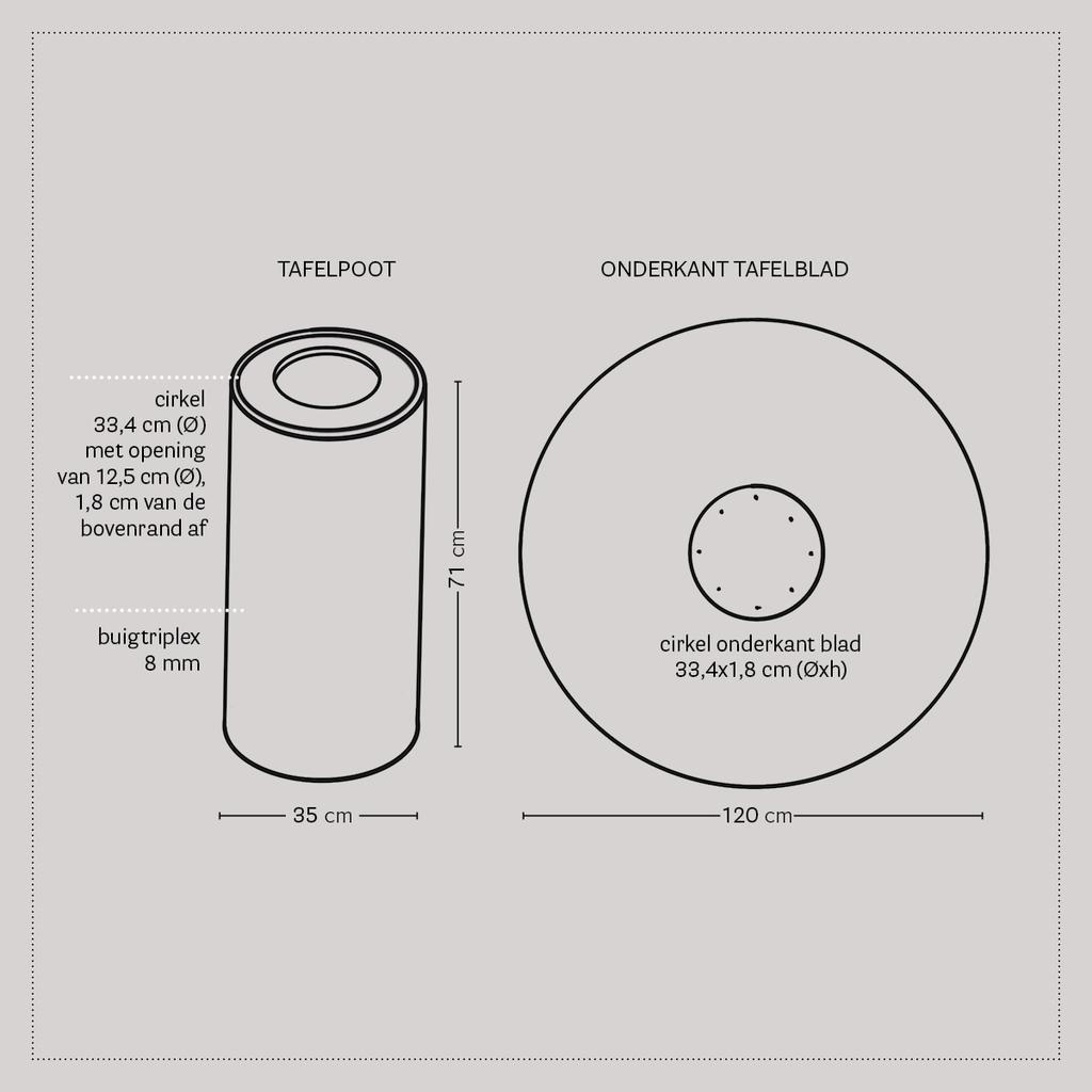 vtwonen DIY special 02 2020 | blauwdruk eettafel