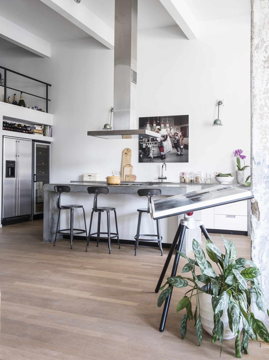 open keuken in loft amsterdam