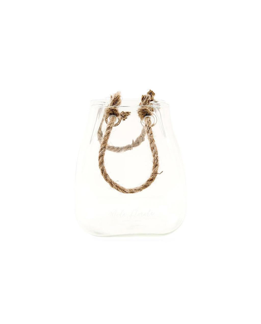 glazen vaas met touw