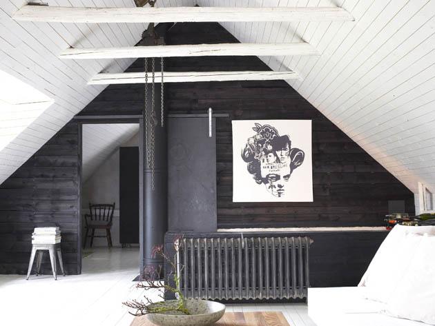 zwart-wit zolder