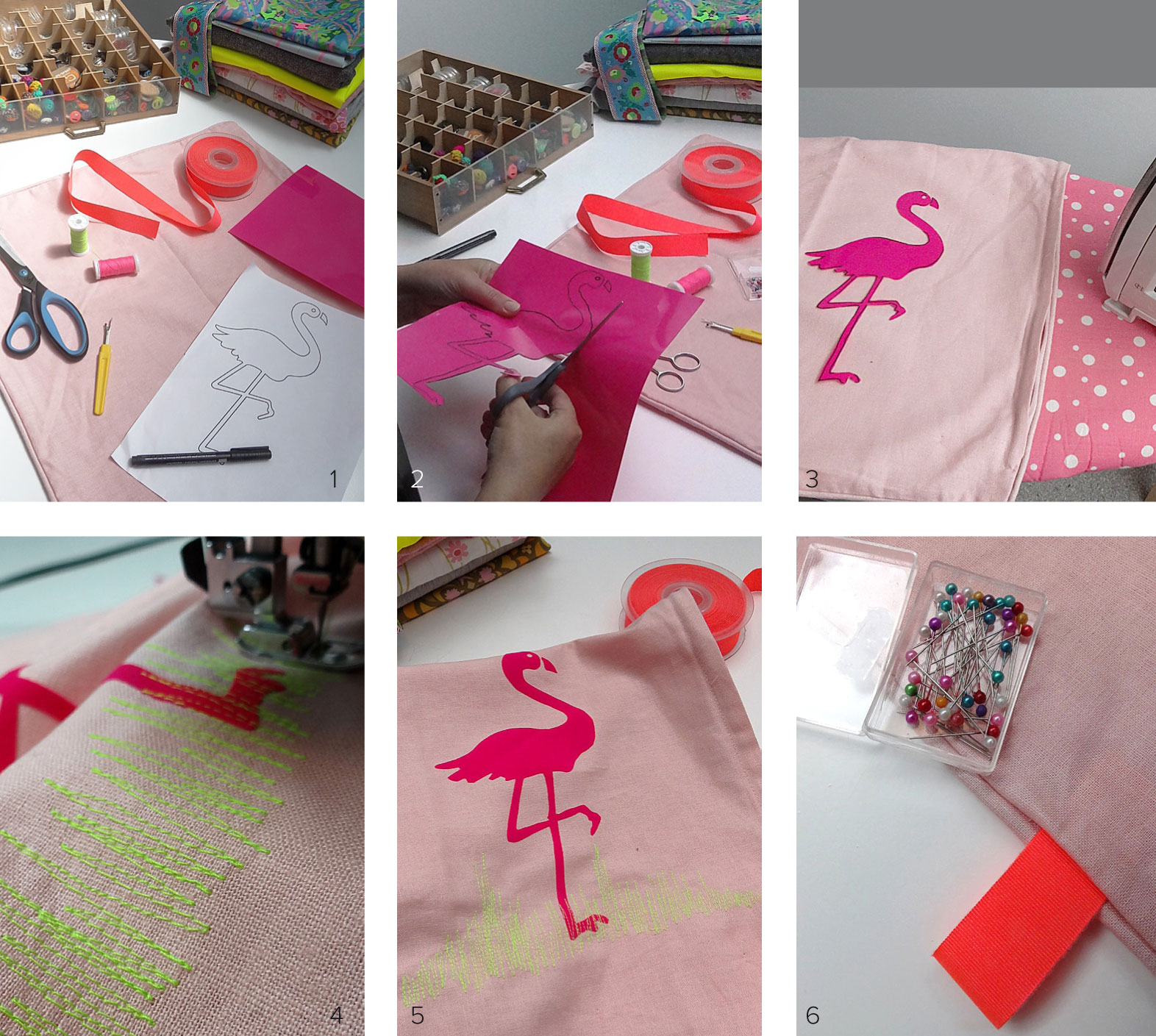 flamingo kussen