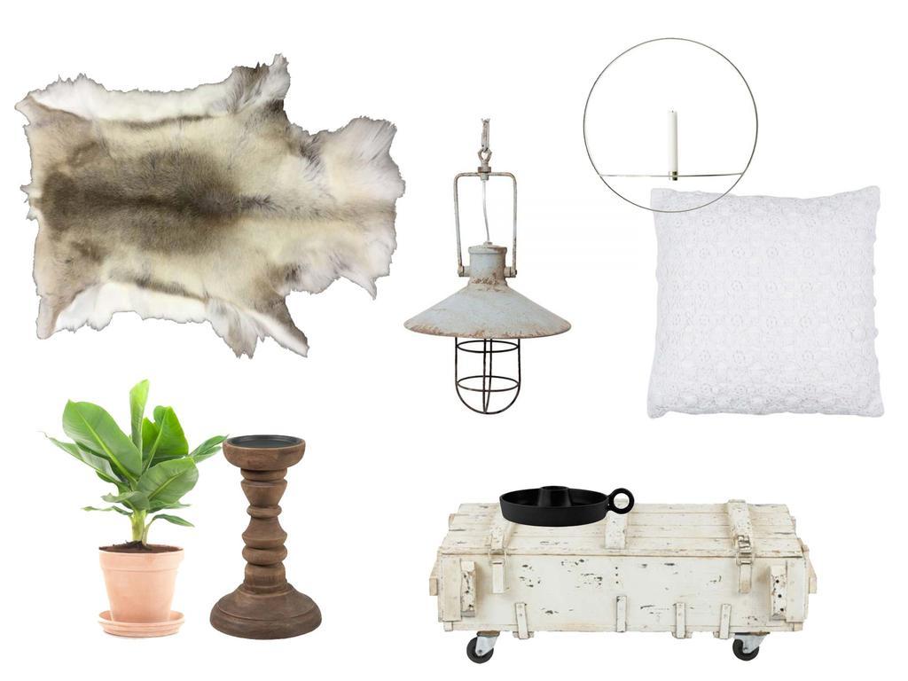 Shoppen in de stijl van een industrieel huis met witte elementen