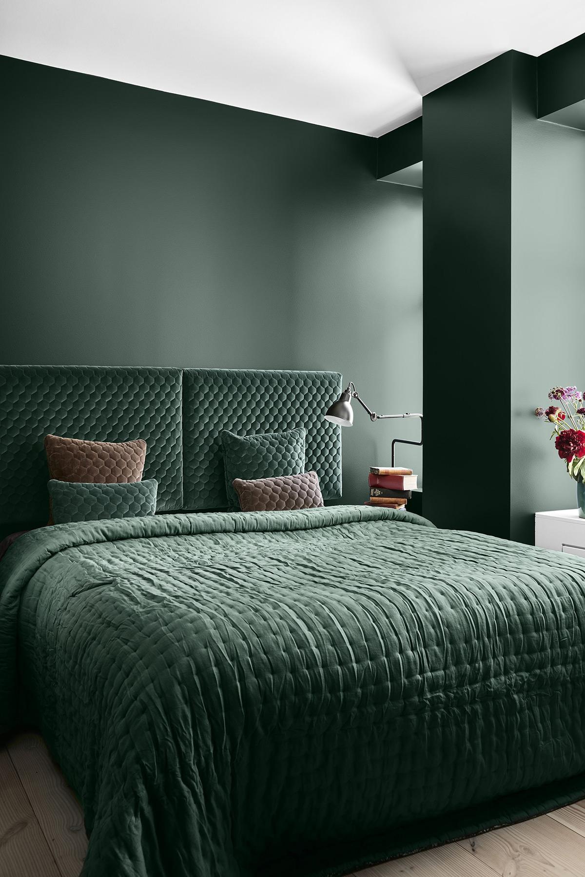 groen interieur slaapkamer Histor