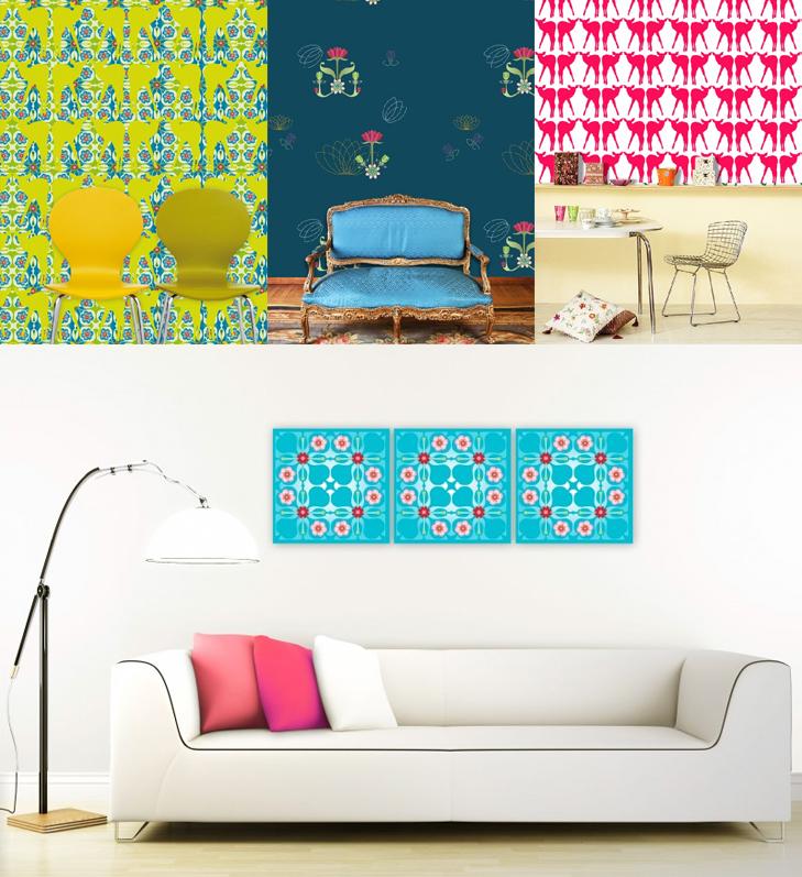 Kleurrijk behang