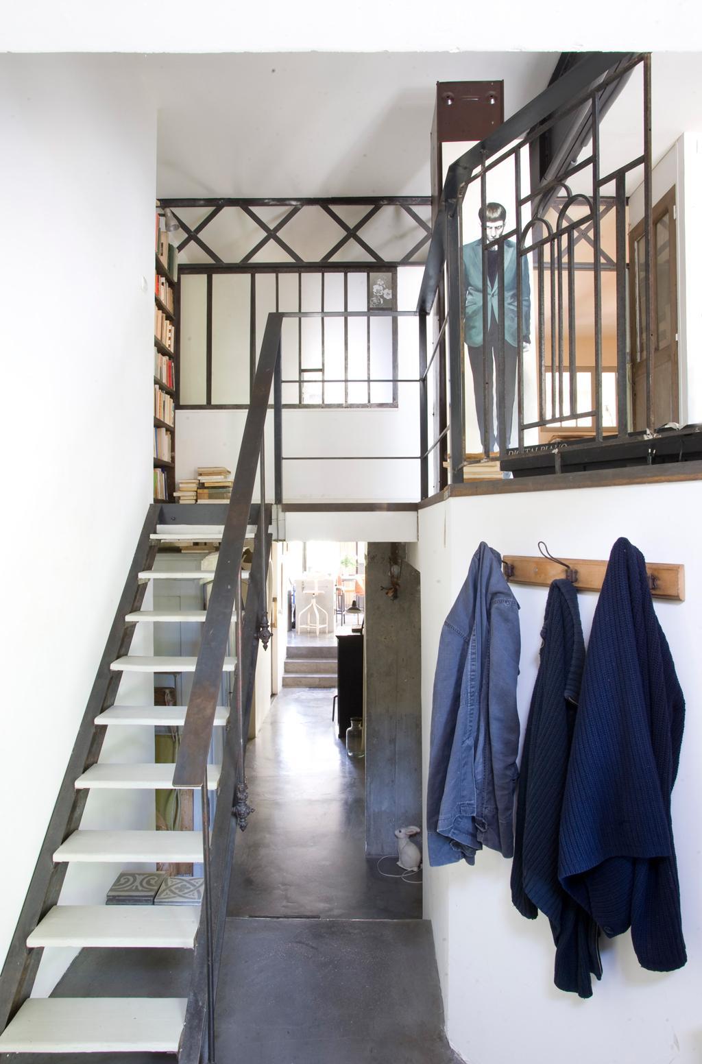 zelfgemaakte trap
