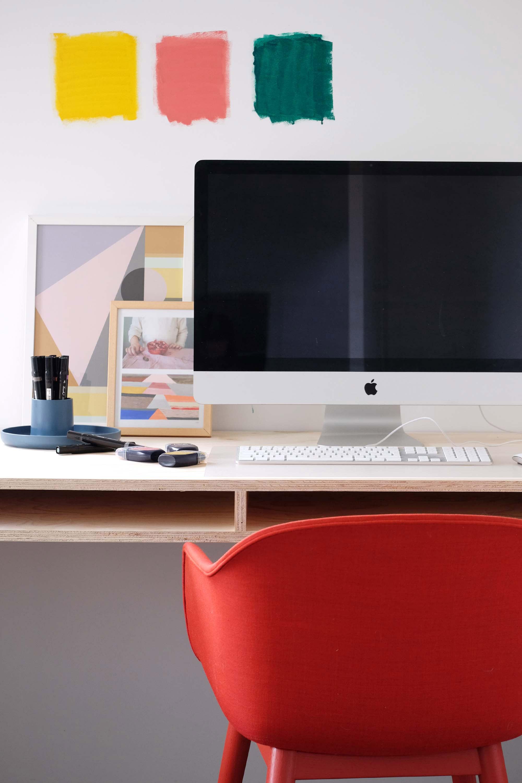 Nieuwe kleur werkkamer