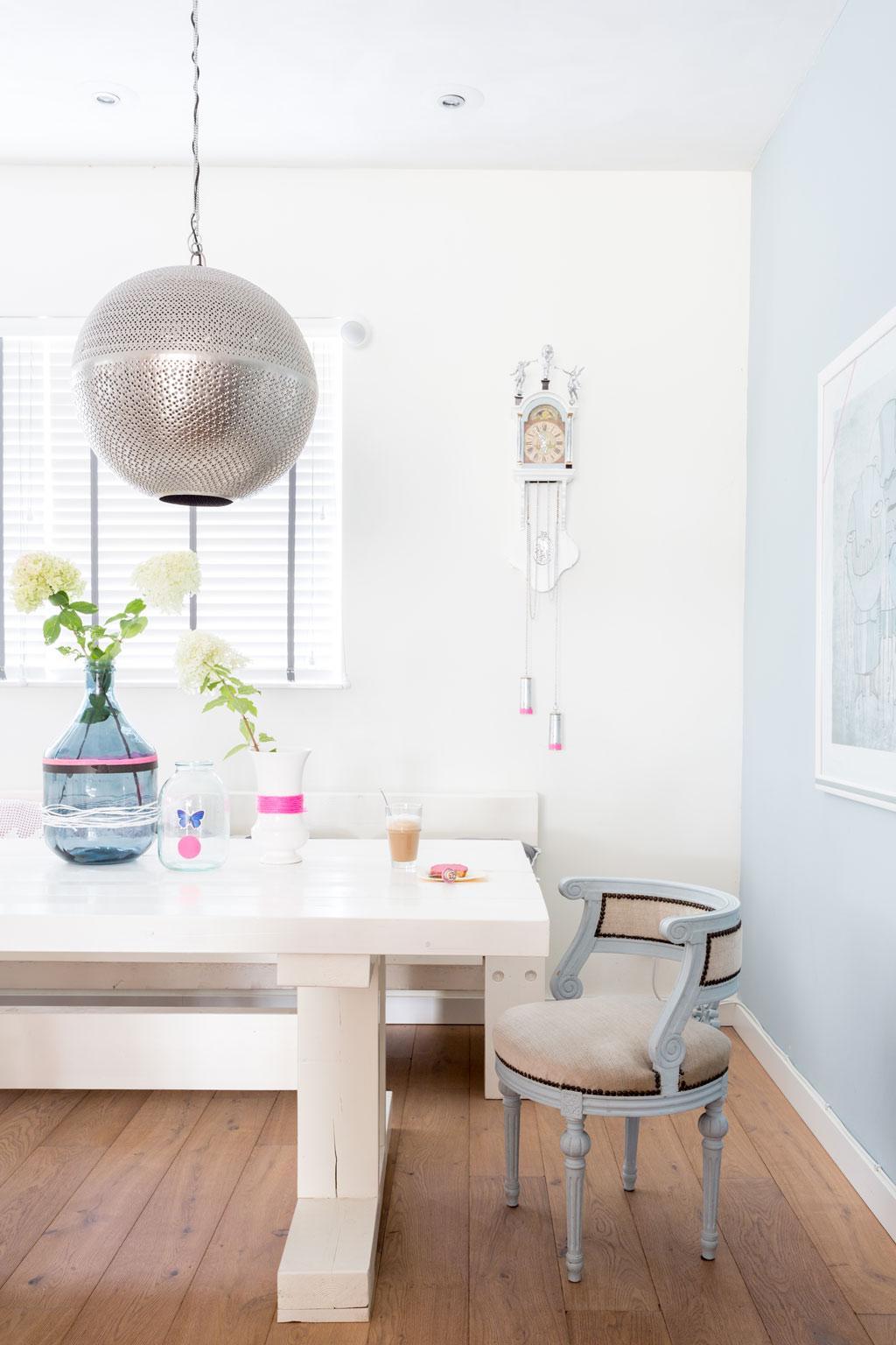zilveren hanglamp