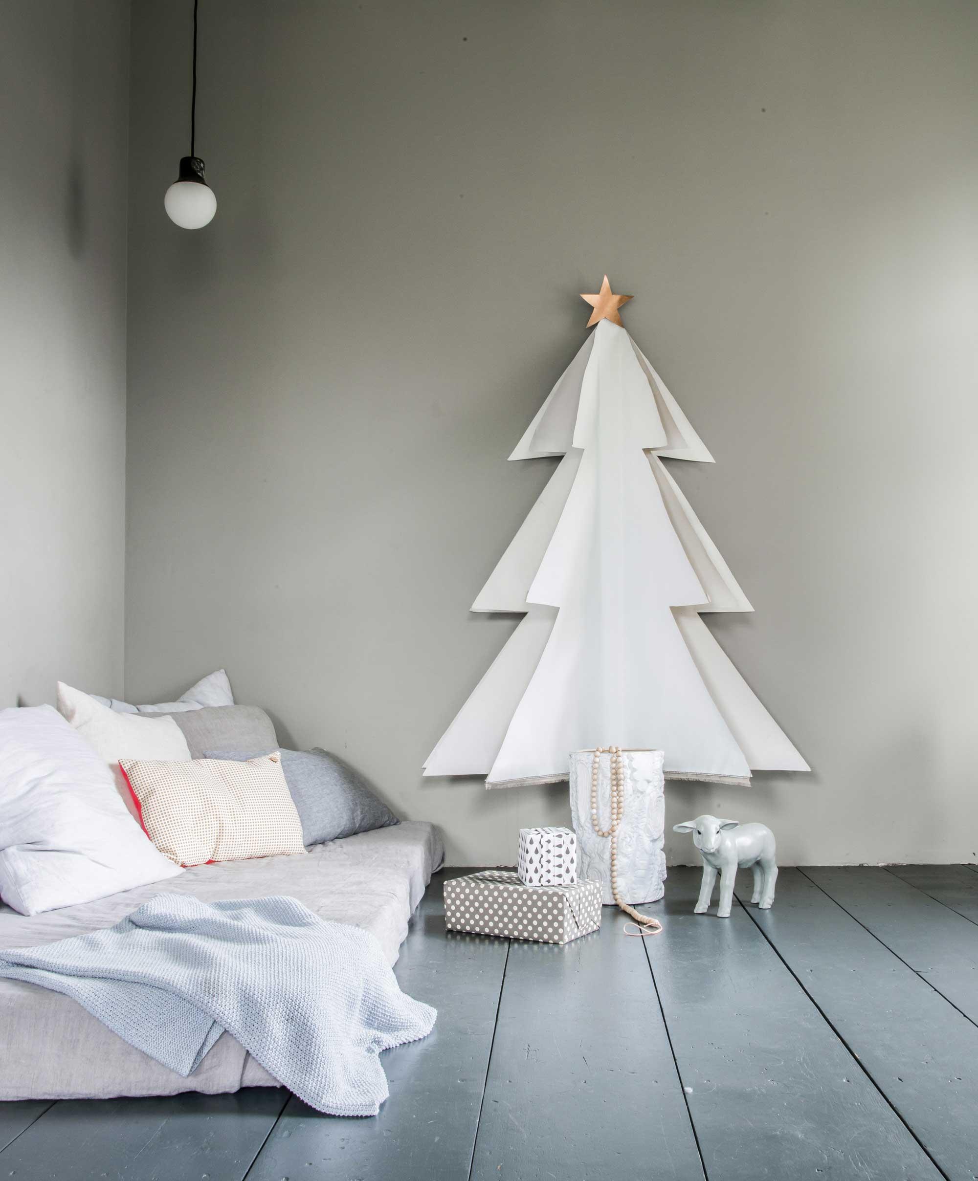 Kerstbomen zonder naalden - Canvas