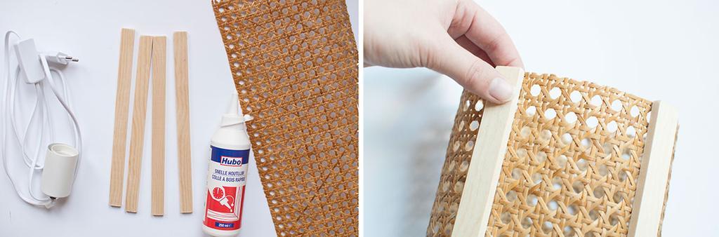 DIY: rotan webbing tafellamp - Stappenplan - Materialen - vtwonen
