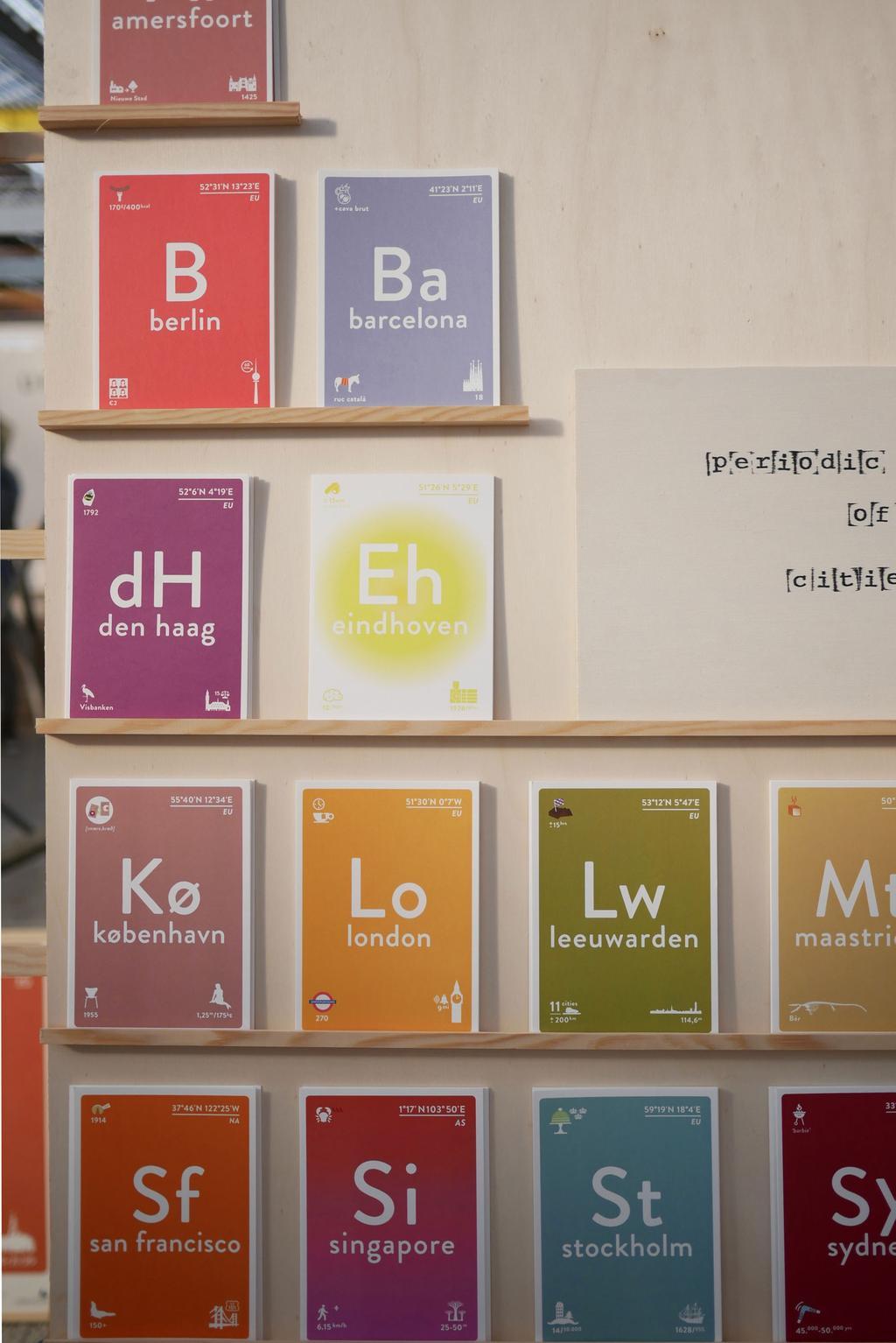 Label of Elements op de beurs showUP met elementen als wanddecoratie