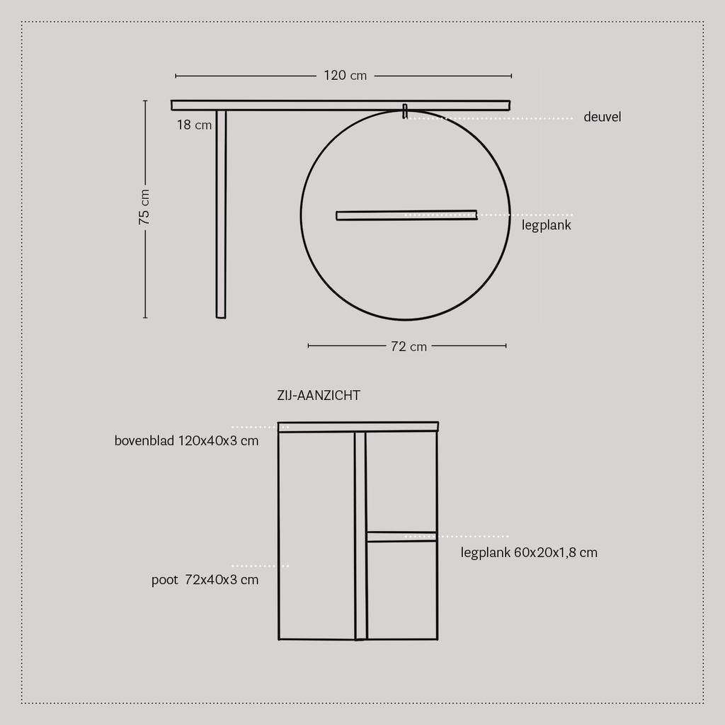 vtwonen 2020 DIY special 2 | sidetable tekening