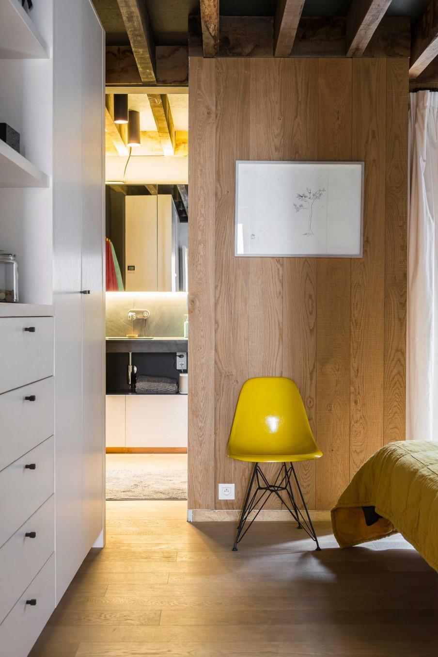 chambre chaise jaune