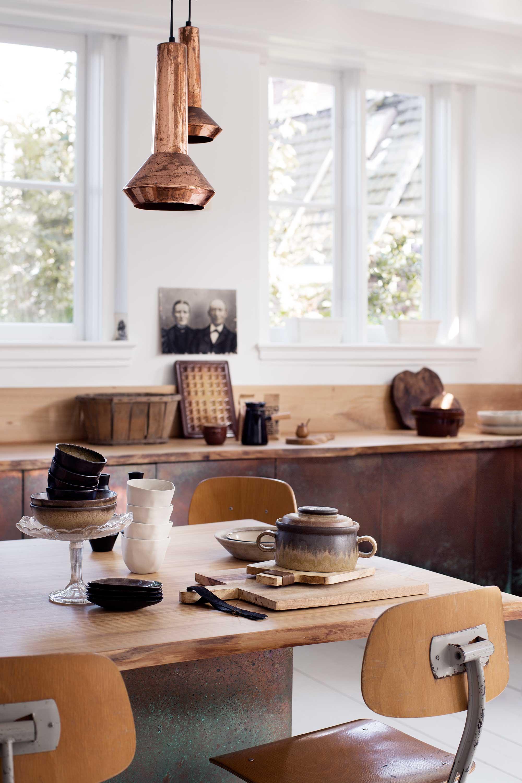 keuken landelijk hout bruin