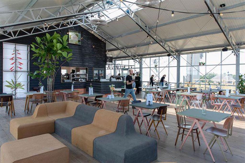 De Dakkas in Haarlem restaurant op het dak van een parkeergarage